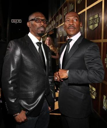 Charlie Murphy (left) with his brother Eddie in 2012.