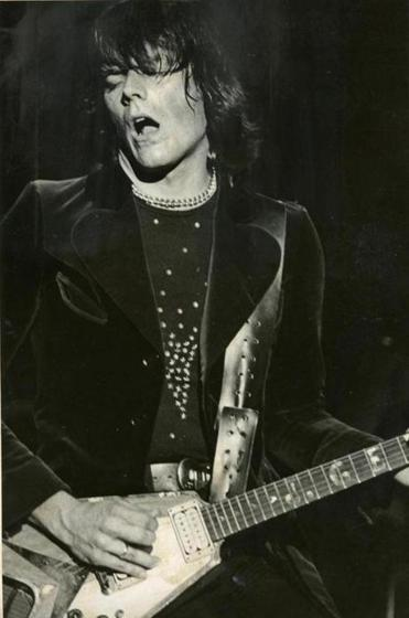 J. Geils during a J. Geils Band show at the Music Hall in 1977.