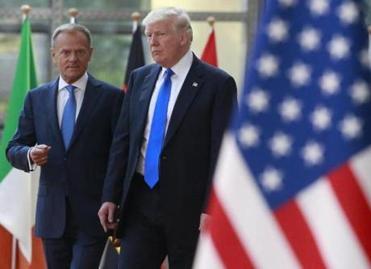 Trump meeting with EU leaders
