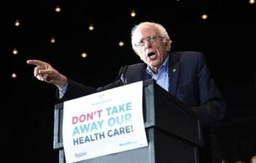 Bernie Sanders leading the charge against the health care bill