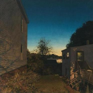 "Linden Frederick's painting ""Save-a-Lot,"" the inspiration for one of the stories in a collection based on the artist's work."