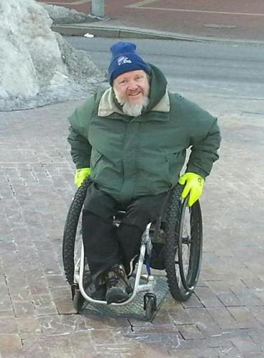 Jack Coakley never let winter slow him down. He got snow tires for his wheelchair.