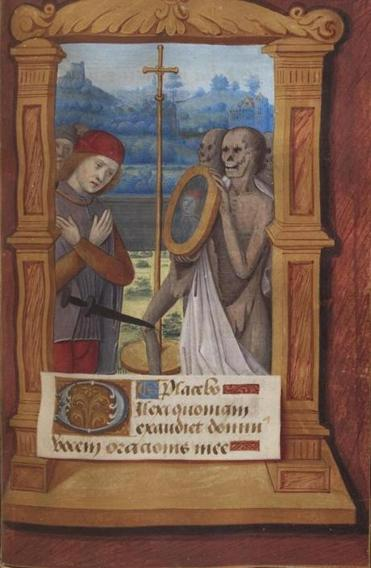 """Office of the Dead"" from a devotional Book of Hours."