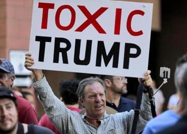 The scene outside Trump's Phoenix rally is already looking tense