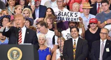 The story behind the 'Blacks for Trump' guy at the Phoenix rally