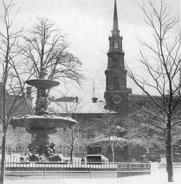 The Brewer Fountain in 1928.