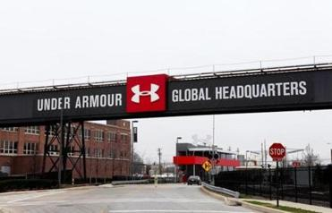 BALTIMORE - APRIL 09: Under Armour Global Headquarters signage on April 9, 2015 in Baltimore, Maryland. (Photo By )