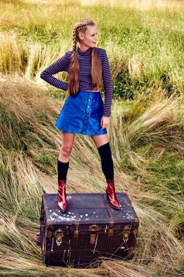 Meghan Hughes's latest line, called Wild Child, honors Punky Brewster and Pippi Longstocking.