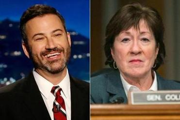 Jimmy Kimmel to Susan Collins: 'We are all in your debt'