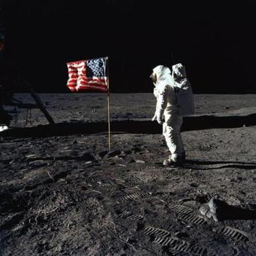Buzz Aldrin posed for a photograph taken by Neil Armstrong during an Apollo 11 extravehicular activity on the lunar surface in 1969. The first lunar landing was one of the many missions on which Mr. Schmitt worked.