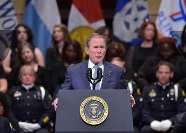 George W. Bush's unmistakable takedown of Trump