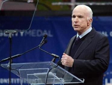 Adopting role of elder statesman, McCain is a repeated critic of Trumpism
