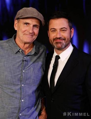 James Taylor and Jimmy Kimmel.