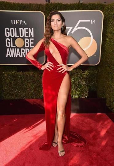 Actress Blanca Blanco at the Golden Globes Sunday.