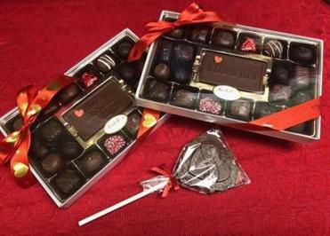 11zochocolates -- Assorting that send a message from Fedele's Chocolates, which has locations in Pembroke and Plymouth. (Fedele's Chocolates)