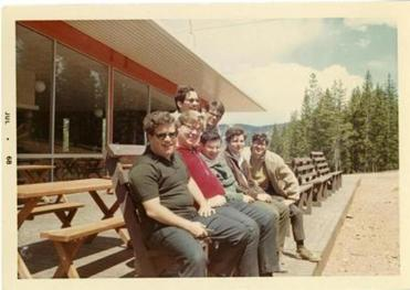 From left, James Levine and Lynn Harrell during a group trip in the summer of 1968.