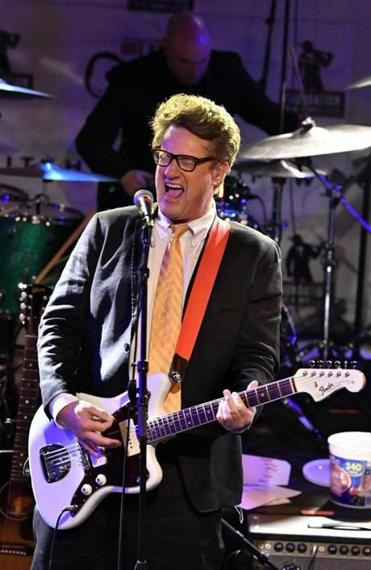 Joe Scarborough was jamming out at the show.