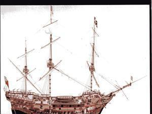A drawing of the Whydah Gally