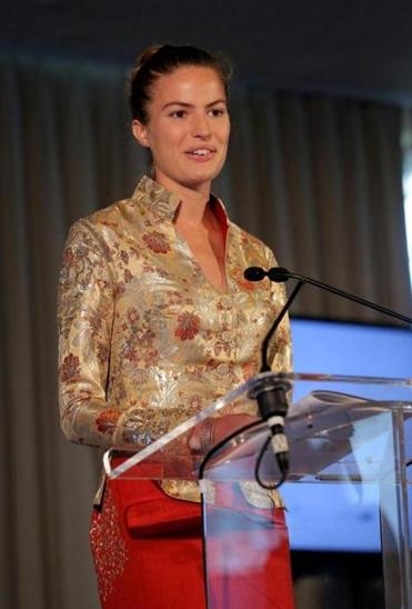 NEW YORK, NY - SEPTEMBER 22: Model Cameron Russell speaks onstage during Women Empowering Women Luncheon And Fashion Show At The UN For LDNY Festival Launch on September 22, 2014 in New York City. (Jemal Countess/Getty Images for ITC)