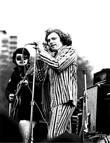 Van Morrison performing on Boston Common in 1968.