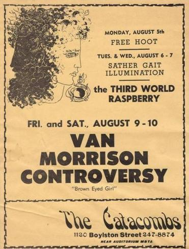 "A leaflet for the 1968 show during which Van Morrison debuted some songs from ""Astral Weeks."""