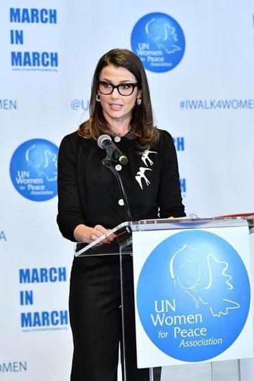 Bridget Moynahan at the UN Women for Peace Association's awards luncheon.