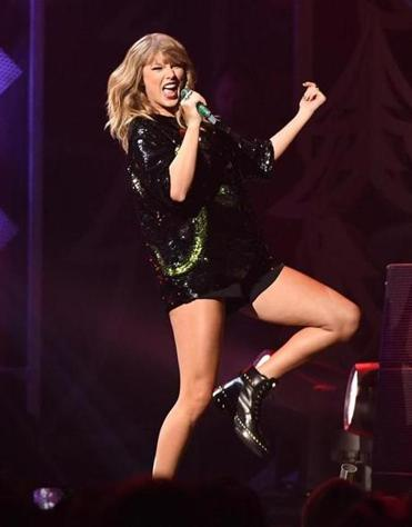Taylor Swift performing at Madison Square Garden in December of 2017.