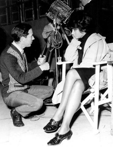 "Mr. Anderson talked with Sophia Loren on the set of ""Operation Crossbow"" in 1964."