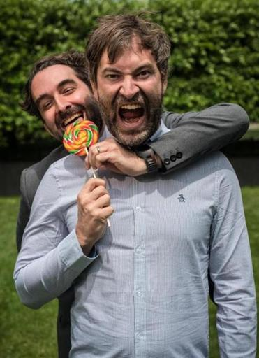 The Duplass brothers: Jay (left) and Mark.