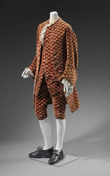 "Man's waistcoat, breeches, and vest circa 1750, part of ""Casanova's Europe: Art, Pleasure, and Power in the 18th Century"" at the MFA."