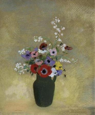 Large Green Vase with Mixed Flowers Odilon Redon (French, 1840–1916) 1910–12 Pastel on paper * Bequest of John T. Spaulding * Photograph © Museum of Fine Arts, Boston 05mfa French Pastels: Treasures from the Vault June 30, 2018 - January 6, 2019.