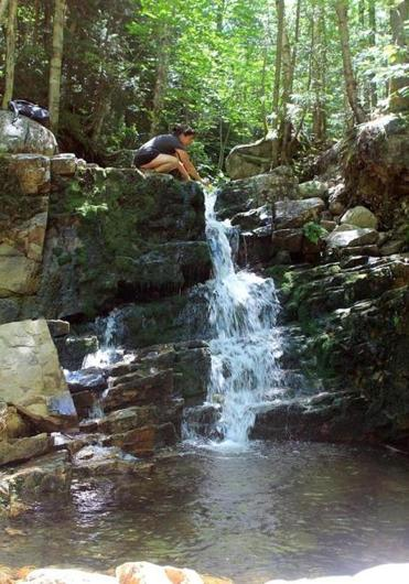 Centennial Pool offers a refreshing respite near the end of Mount Willard trail.