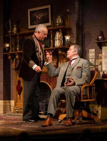 "Mark Zeisler and Rufus Collins in Huntington Theatre Company's production of ""Sherlock's Last Case."""