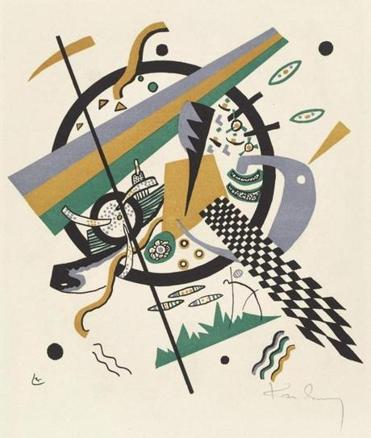 Kleine Welten IV Wassily Kandinsky (Russian, 1866-1944) 1922 Color lithograph * Bequest of W. G. Russell Allen * Photograph (c) Museum of Fine Arts, Boston