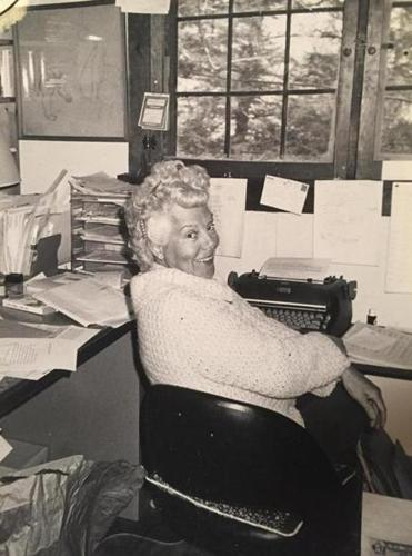 This 1980 photo provided by Kathy Ballantine showed her grandmother Betty Ballantine, half of a groundbreaking husband-and-wife publishing team that helped invent the modern paperback and vastly expand the market for science fiction and other genres.
