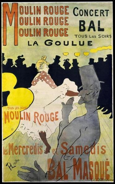 """Moulin Rouge: La Goulue,"" Henri de Toulouse-Lautrec, 1891"