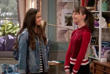 "Siena Agudong and Lauren Lindsey Donzis in the Netflix series ""No Good Nick."""