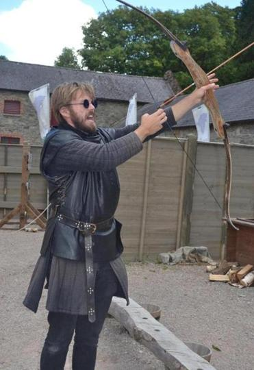 "A ""Game of Thrones"" tour guide demonstrates the proper form for battle."