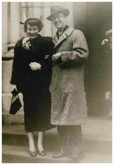 William Jacobs and his wife, Jane, after they married in 1949. 10billjacobs