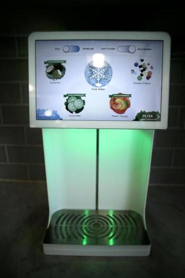 "A Bevi machine dispenses flavored water. The company's CEO sees Bevi and Smoodi as being part of ""a shift toward healthier, cleaner ingredients"" in food and drink."