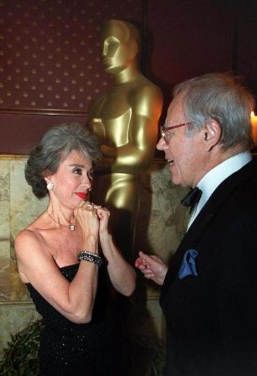 """West Side Story"" Oscar winners from 1961, Rita Moreno (supporting actress) and Mr. Ramin (musical score), talked after meeting for the first time since 1961 at a New York Oscar party."