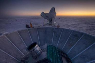 This lab, located three-quarters of a mile from the Geographic South Pole, houses the telescope that captured images corroborating Guth's theory. S