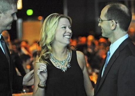 """Adrianne Haslet-Davis called Dr. Jeffrey Kalish (right) a """"miracle worker."""""""