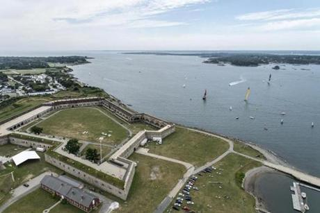 July 9, 2014. Team Alvimedica and Abu Dhabi Ocean Racing start their transatlantic from Newport, Rhode Island, to the UK.