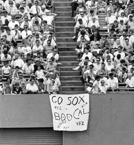 Boston, MA - 7/27/1967: Fans in the stands during a Boston Red Sox game at Fenway Park on July 27, 1967. (Tom Landers/Globe Staff) --- BGPA Reference: 170217_MJ_003