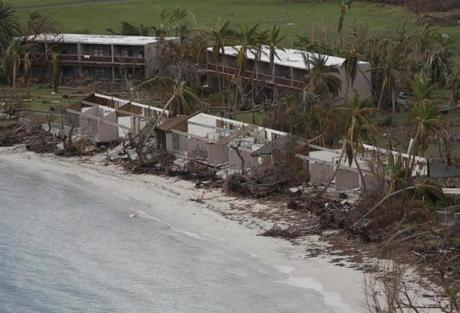 Cancel Bay, St. John -- 9/14/2017 - Damage is seen to the Caneel Bay Resort on St. John. (Jessica Rinaldi/Globe Staff) Topic: Reporter:
