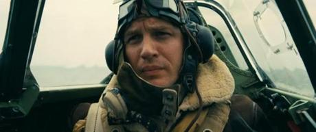 Tom Hardy in the 2017 film DUNKIRK, directed by Christopher Nolan.