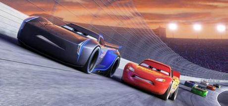 Jackson Storm (voice of Armie Hammer), a frontrunner in the next generation of racers, posts speeds that even Lightning McQueen (voice of Owen Wilson) in the 2017 animated film CARS 3, directed by Brian Fee. ©2016 Disney/Pixar. All Rights Reserved. (c) 2016 Disney/Pixar. All Rights Reserved.