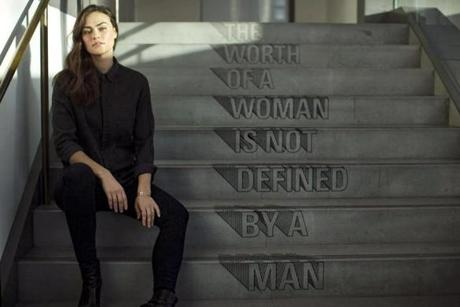 New York, New York - 1/24/2018 -Model Myla Dalbesio talks about sexual harassment in the modeling industry during an interview in New York, New York, January 24, 2018. (Keith Bedford/Globe Staff)