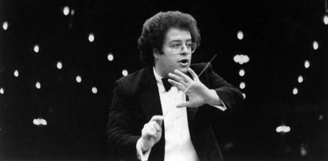 1/1/1978: James Levine, music director of the Metropolitan Opera, conducts a show, 1978. (Metropolitan Opera Press Department) --- BGPA Reference: 170824_ON_009